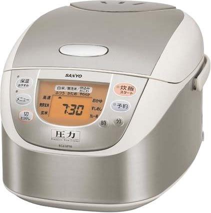 SANYO 圧力ジャー炊飯器 「おどり炊き」 (ステンレスホワイト) ECJ-VP18(SW)