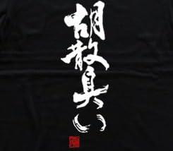 胡散臭い(落款付き) うさんくさい 書道家が書く漢字Tシャツ サイズ:XXXL 黒Tシャツ 前面プリント