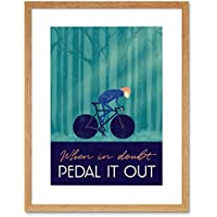 Sport Pedal It Out Cycling Bike Framed Wall Art Print スポーツ自転車壁
