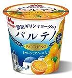 森永乳業 濃密ギリシャヨーグルト パルテノ オレンジソース入り80g×12個「クール便でお届けします。」