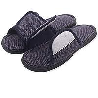 Caramella Bubble Mens Open Toe Adjustable Memory Foam Summer Slippers Indoor Outdoor