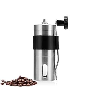 小型 ミニ コーヒー ミル コーヒーミル手動 手動コーヒー豆挽き器 ステンレス セラミック 洗浄可能 太さ調節可能 台所研削ツール ポータブル アウトドア キャンプ