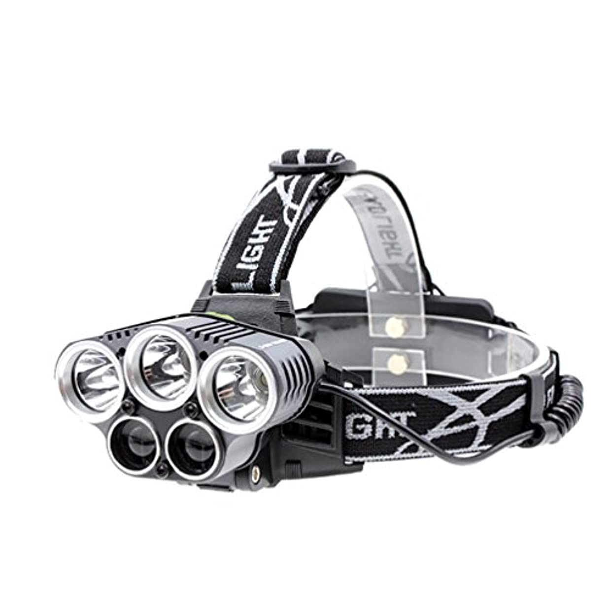 しかしながら冗談で占めるHayder LED ヘッドライト USB充電式 超高輝度5灯式 夜釣り防水 登山 軽量 アウトドア