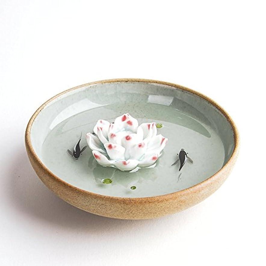 成功した白鳥ドームお香立て お香たて 香の器 お香を焚いて 香皿,陶磁器、緑