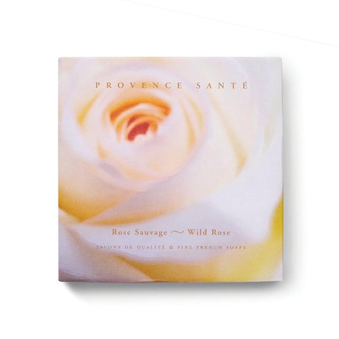 コインランドリーストローク想起Provence Sante PS Gift Soap Wild Rose, 2.7oz 4 Bar Gift Box by Provence Sante [並行輸入品]