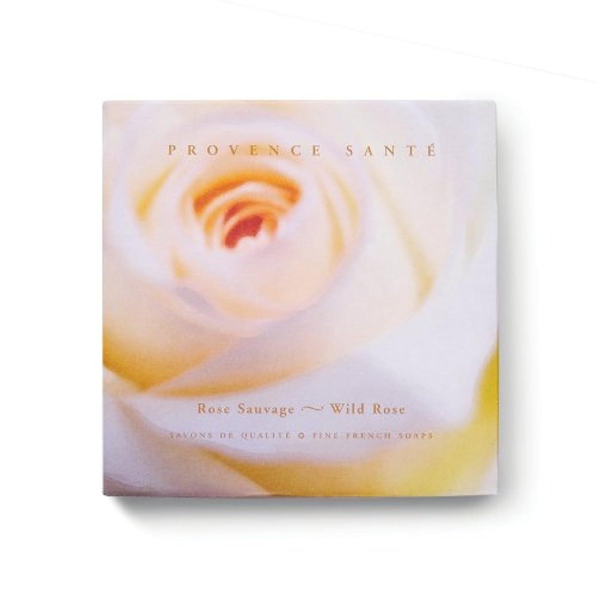 未満荒れ地脆いProvence Sante PS Gift Soap Wild Rose, 2.7oz 4 Bar Gift Box by Provence Sante [並行輸入品]