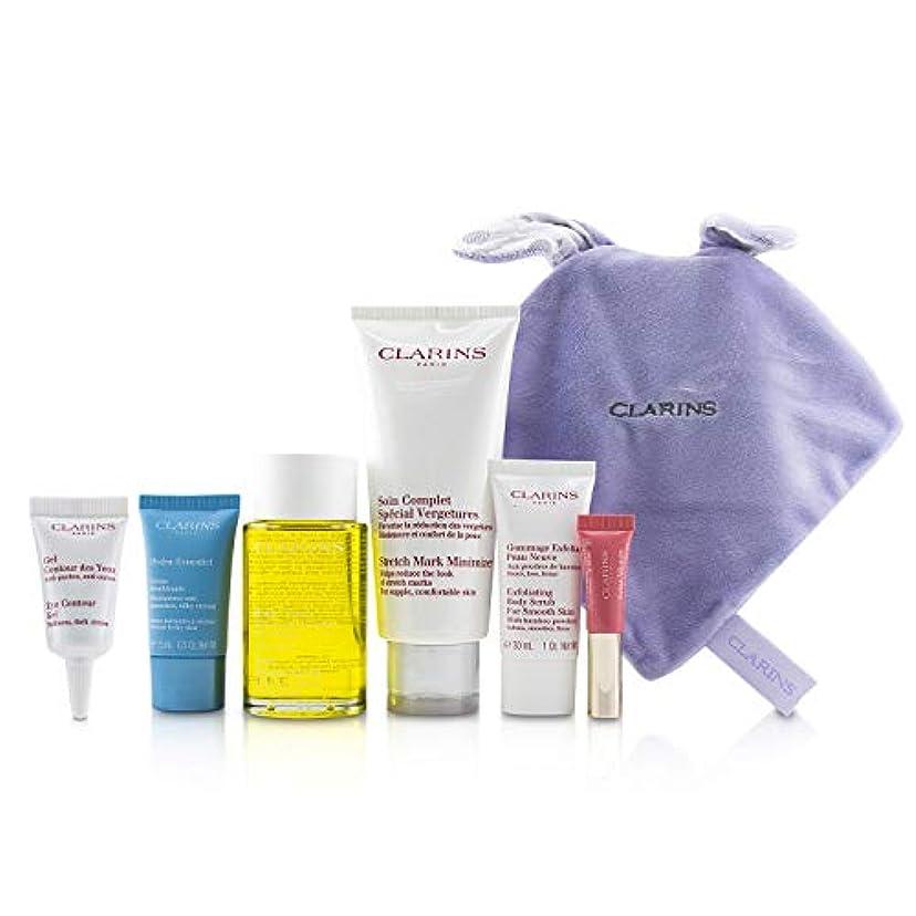 記憶に残る時折全部クラランス Maternity Set: Tonic Treatment Oil+ Stretch Mark Minimizer+Hydra-Essentiel Cream+ Body Scrub+ Eye Gel+ Lip...