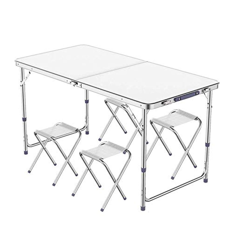 リスキーなペースながらL-H-X 折りたたみテーブル屋外ストールテーブルプッシュ折りたたみテーブルポータブルホームシンプルなダイニングテーブルと椅子ピクニックテーブル (設計 : B)