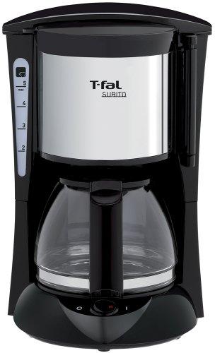 ティファール コーヒーメーカー  スビト  ペーパーレスフィルター メタリックノワール CM1518JP
