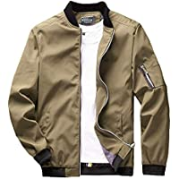 sandbank Men's Slim Fit Lightweight Softshell Flight Bomber Jacket Coat