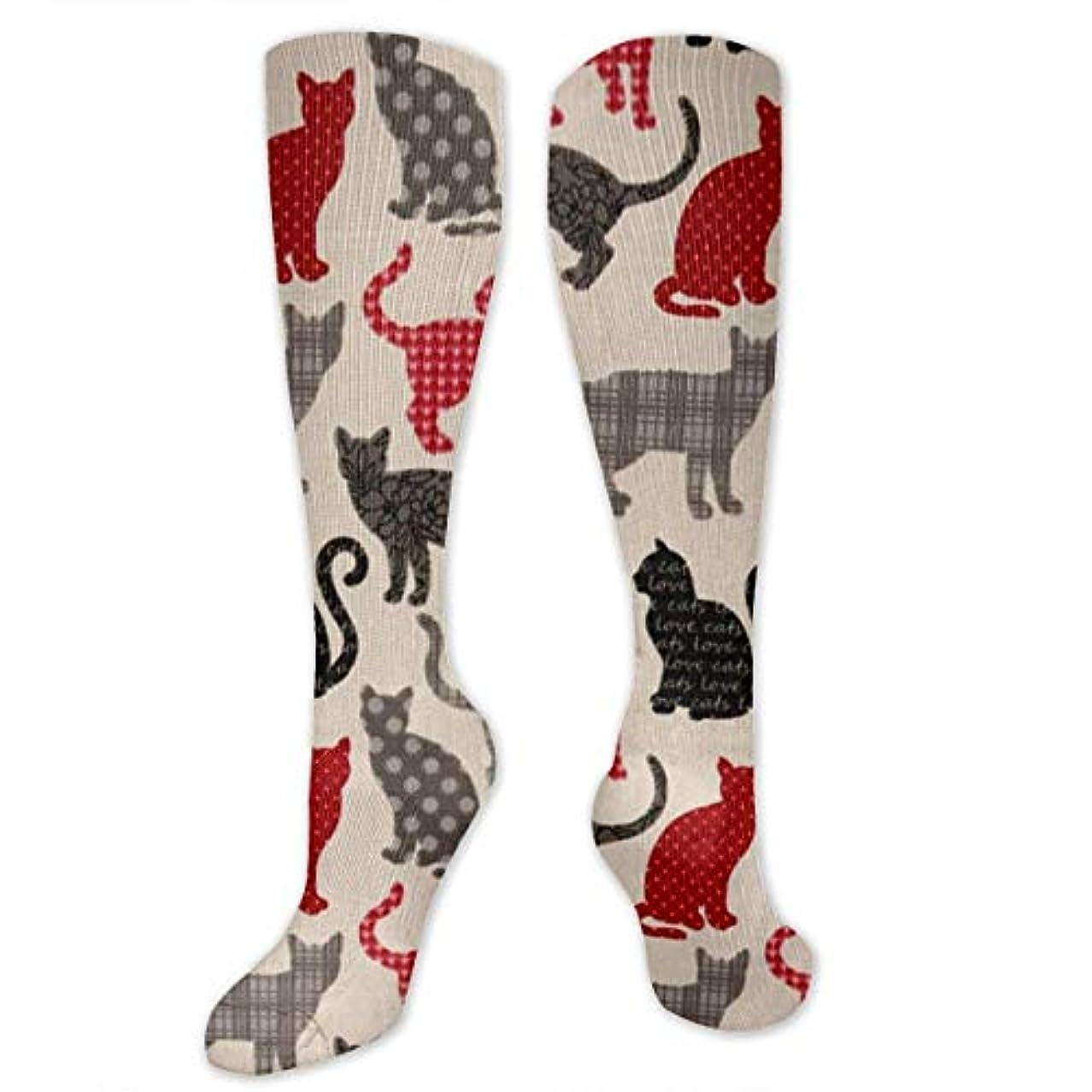 ホストアルバムクーポン靴下,ストッキング,野生のジョーカー,実際,秋の本質,冬必須,サマーウェア&RBXAA Patch Cats Fun with Dots Socks Women's Winter Cotton Long Tube Socks...