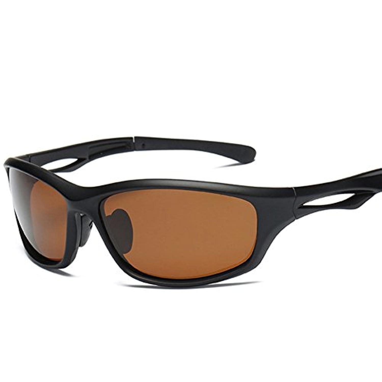 Quzama-JS 偏光サングラス レンズ 運転用 スポーツ 超軽量 クリア UV400 紫外線をカット メンズ 釣り 野球 ゴルフ 自転車 (H05)
