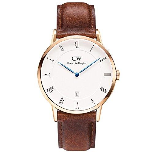 (ダニエルウェリントン) Daniel Wellington 腕時計 メンズ/レディース 1100DW DAPPER ダッパー 38MM ST MAWES R ゴールド[並行輸入品]