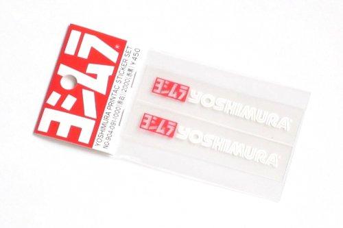 ヨシムラ(YOSHIMURA) ファクトリープリンタックステッカー 2pcs 赤/白 904-091-1000