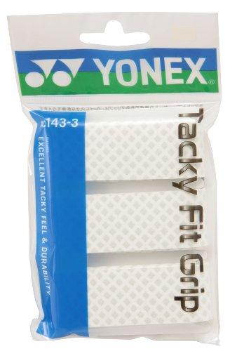 ヨネックス(YONEX) タッキーフィットグリップ(3本入) ホワイト AC1433 011