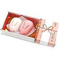 アルタ 和菓子マグネット 紅白兎饅頭 MGW005495 花結び 2個入