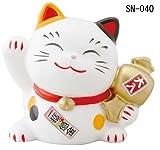 幸せ招き猫宝くじ入れ中みけ(貯金箱) SN-040