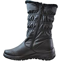 Totes Women's Madina Double Zip Snow Boot Regular Fit BLACK 8