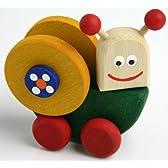 ころころ木製玩具(かたつむり)