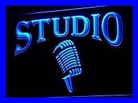 LED看板 ネオンプレート サイン 電飾・店舗看板・標識・サイン カフェ バー ADV PRO i587-b Studio On The Air Microphone Bar Neon Light Sign