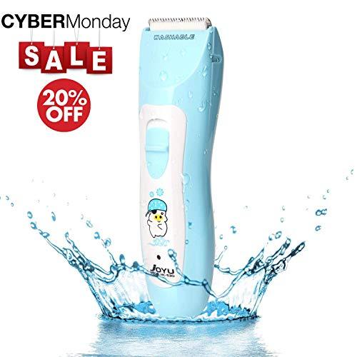 VDOMUS 電動バリカン 防水 コードレス 充電式 ヘアカッター 幼児・子ども・家庭用 散髪セット ブルー