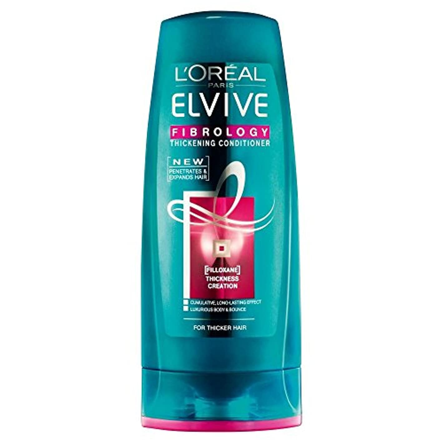 槍苗正統派L'Oreal Paris Elvive Fibrology Thickening Conditioner (400ml) L'オラ?アルパリelviveのfibrology増粘コンディショナー( 400ミリリットル)...