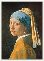 ポスター ヨハネス フェルメール 真珠の耳飾りの少女 額装品 ウッドベーシックフレーム(ホワイト)