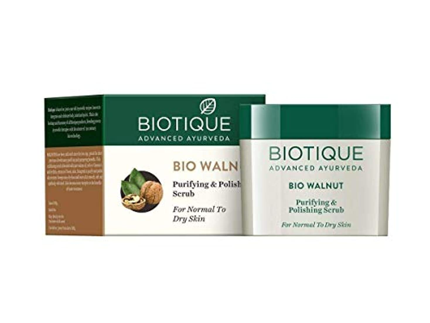 反発嘆願蒸留するBiotique Bio Walnut Purifying & Polishing Scrub, 50g get rid of the dead cells