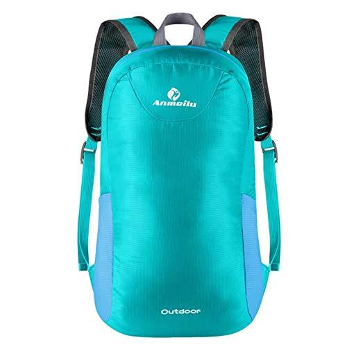YACONE 折り畳み式バックパック 超軽量リュック リュックサック コンパクト バックパック大容量 防水 デイパック・ザック超軽量トラベルバッグ アウトドア 旅行 携帯便利 男女兼用 (エメラルドグリーン)