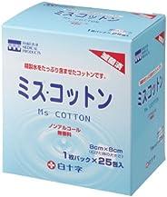 White Cross Mizu Cotton, 25 Pack, Sterilized
