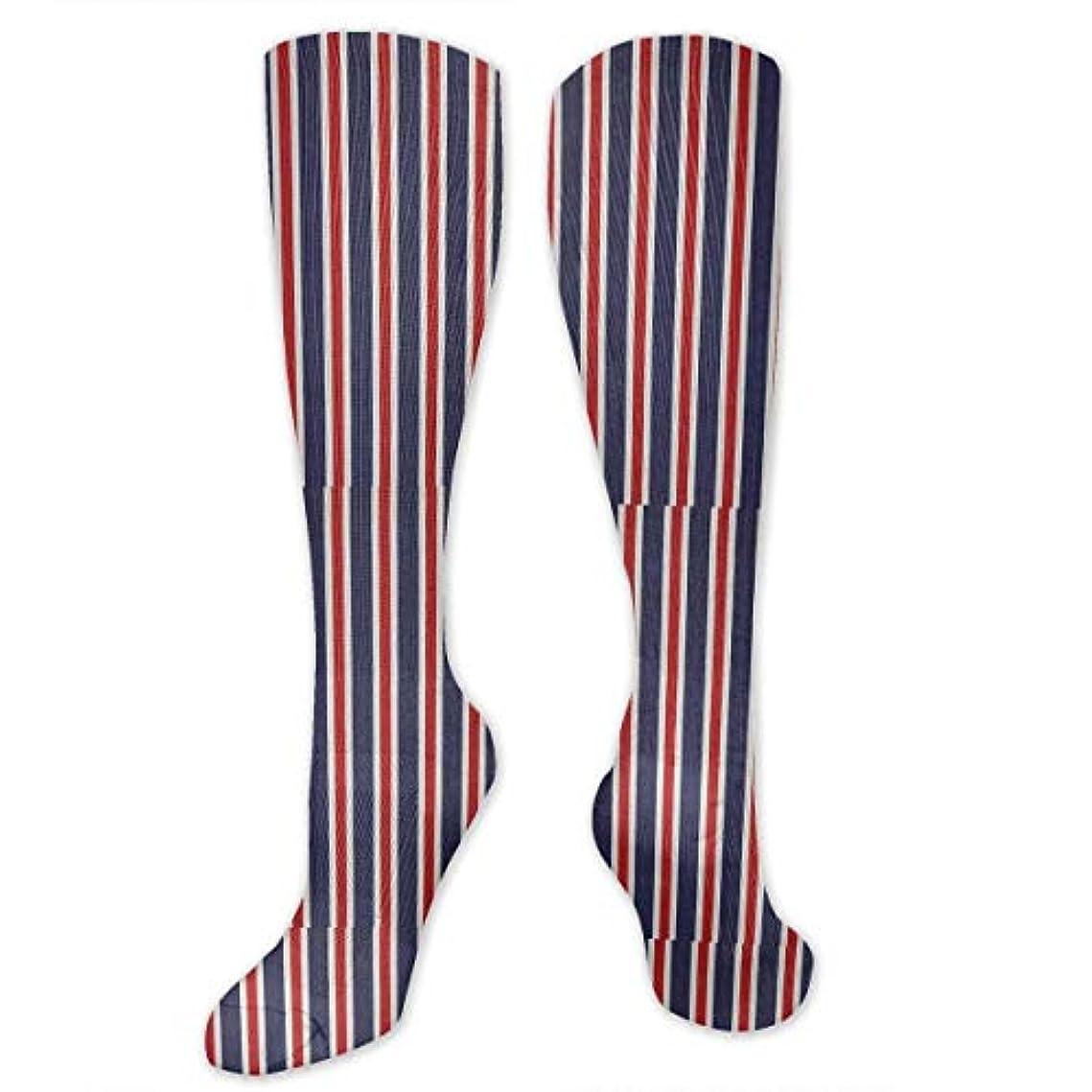 司教算術マスタード靴下,ストッキング,野生のジョーカー,実際,秋の本質,冬必須,サマーウェア&RBXAA Red White Blue Striped Fabrics Socks Women's Winter Cotton Long Tube...