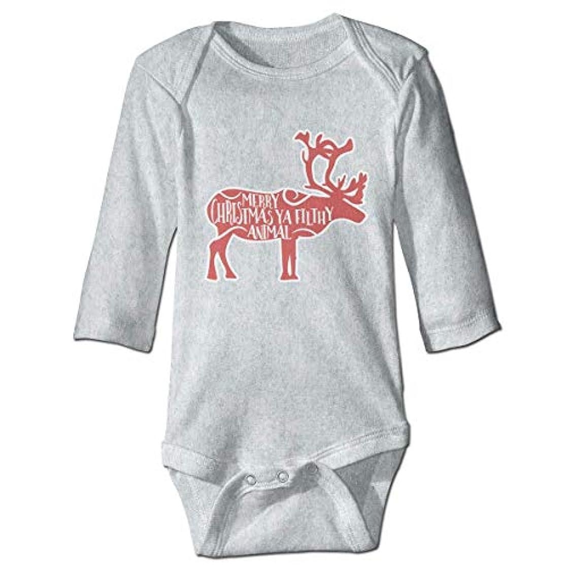 損失計算政治家のメリークリスマスや不潔な動物赤ちゃんボディスーツファッションワンシーコットン衣装コスチューム、12 M