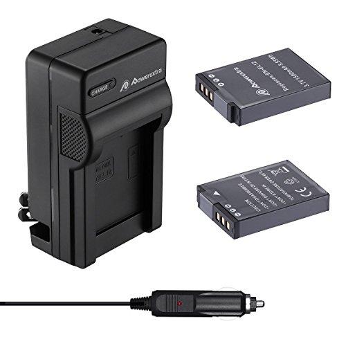 Powerextra Nikon EN-EL12 互換バッテリー2個+車載充電器 対応機種 Nikon Key Mission 360 170 Nikon Coolpix AW100 AW100s AW110 AW110s AW120 P330 P340 S310 S70 S610 S620 S630 S640 S800c S1000pj S1100pj S1200pj S6000 S6100 S6150 S6200 S6300 S8000 S8100等 品質保証