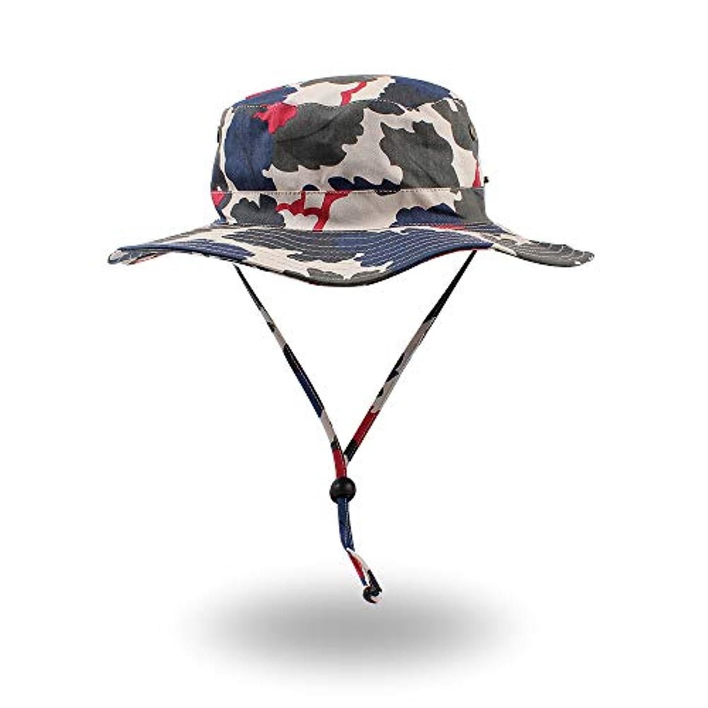 アプローチ大胆な細心のOMUKYアウトドア帽子 メンズ サファリハット 大きいサイズ アウトドア ハット 迷彩柄 2WAYメンズ 帽子 ダックコットン 日よけ 紫外線対策 通気性よく あご紐付き アウトドア 釣り ハイキング 登山 メンズ レディース バケットハット