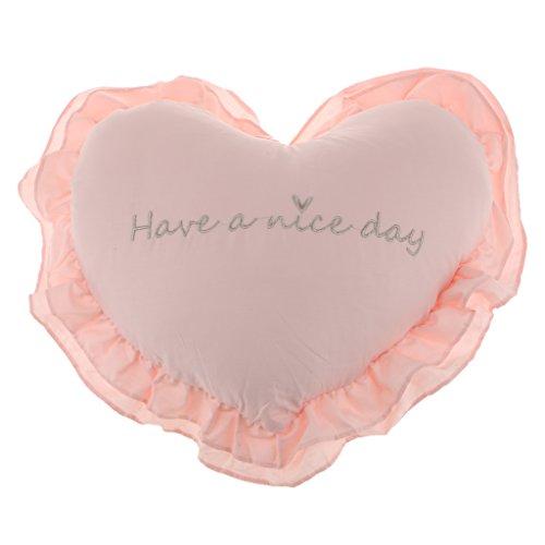 SunniMix 柔らかい 枕 ハート型 取り外し可能 洗濯可能 快適 抱き枕 クッション 部屋 装飾 素晴らしい 贈り物 多色選べる - ピンク
