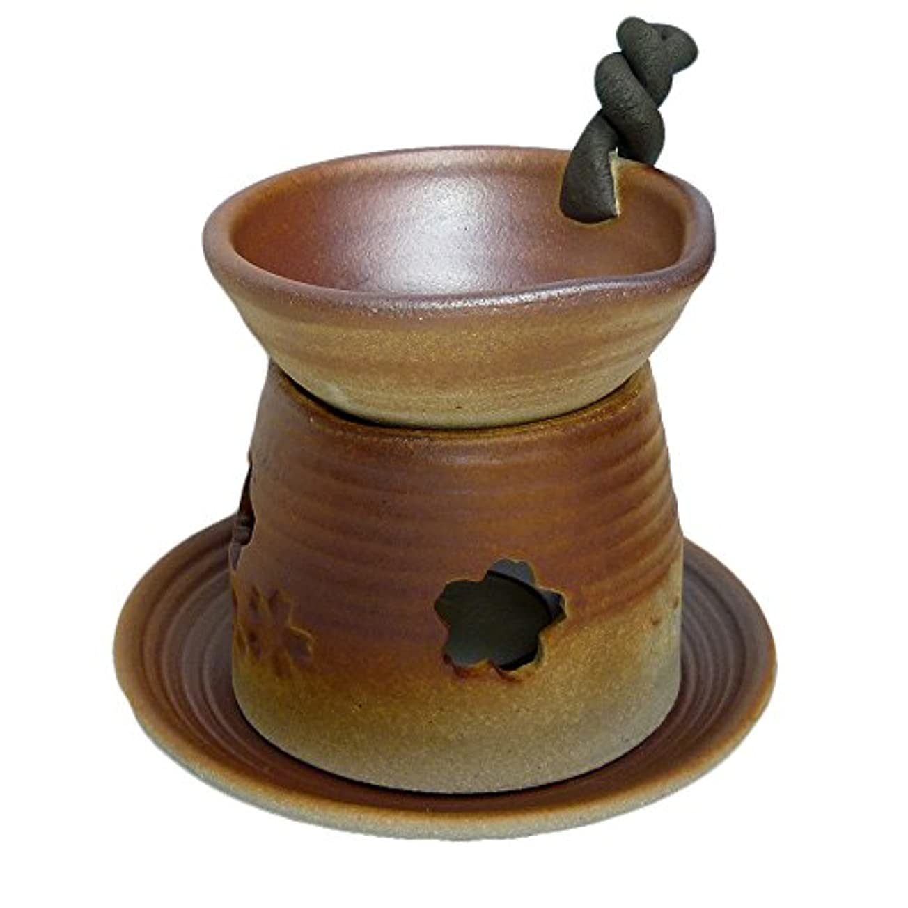 香炉 錆吹き 手付茶香炉 [H13.5cm] HANDMADE プレゼント ギフト 和食器 かわいい インテリア