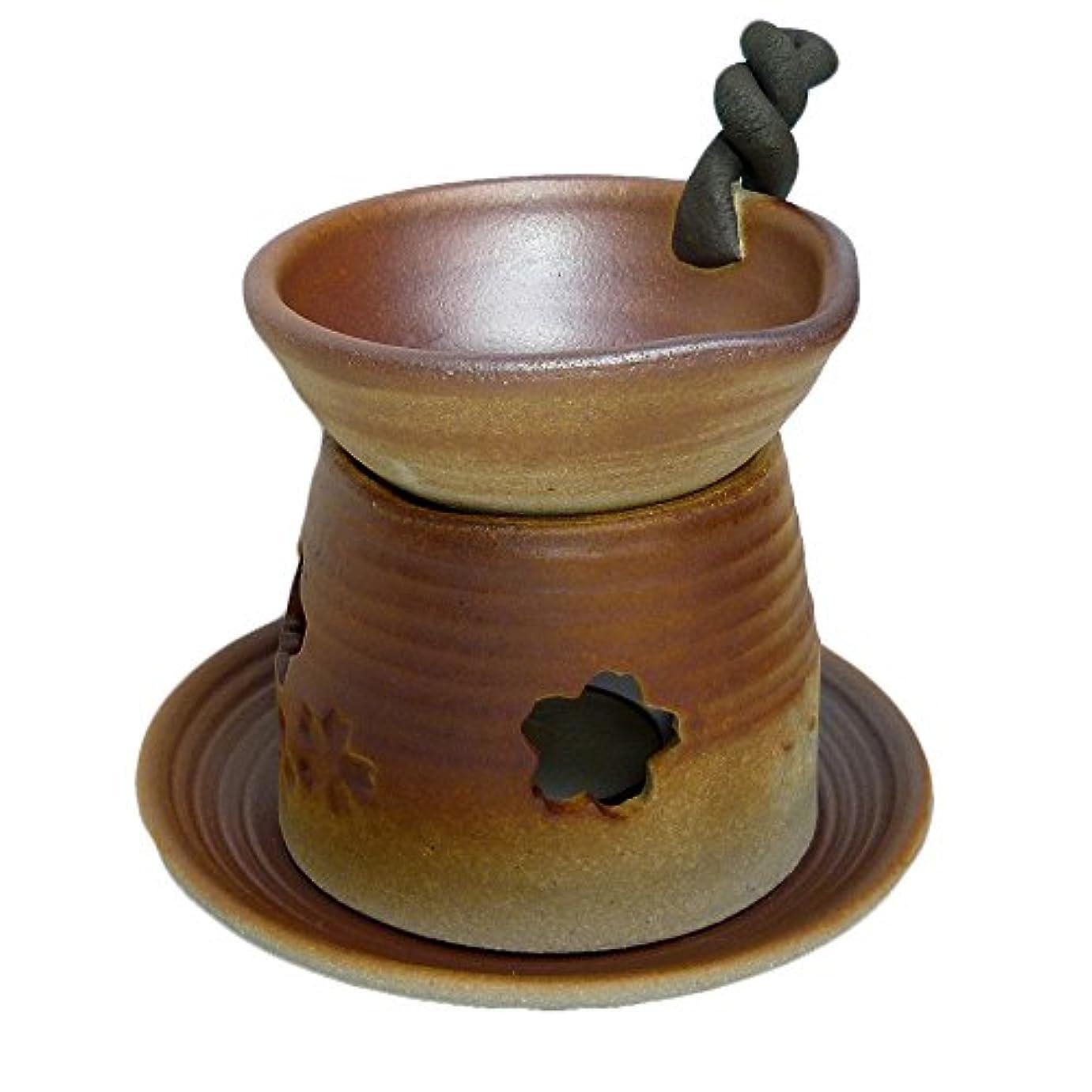 樹皮一部海洋の香炉 錆吹き 手付茶香炉 [H13.5cm] HANDMADE プレゼント ギフト 和食器 かわいい インテリア