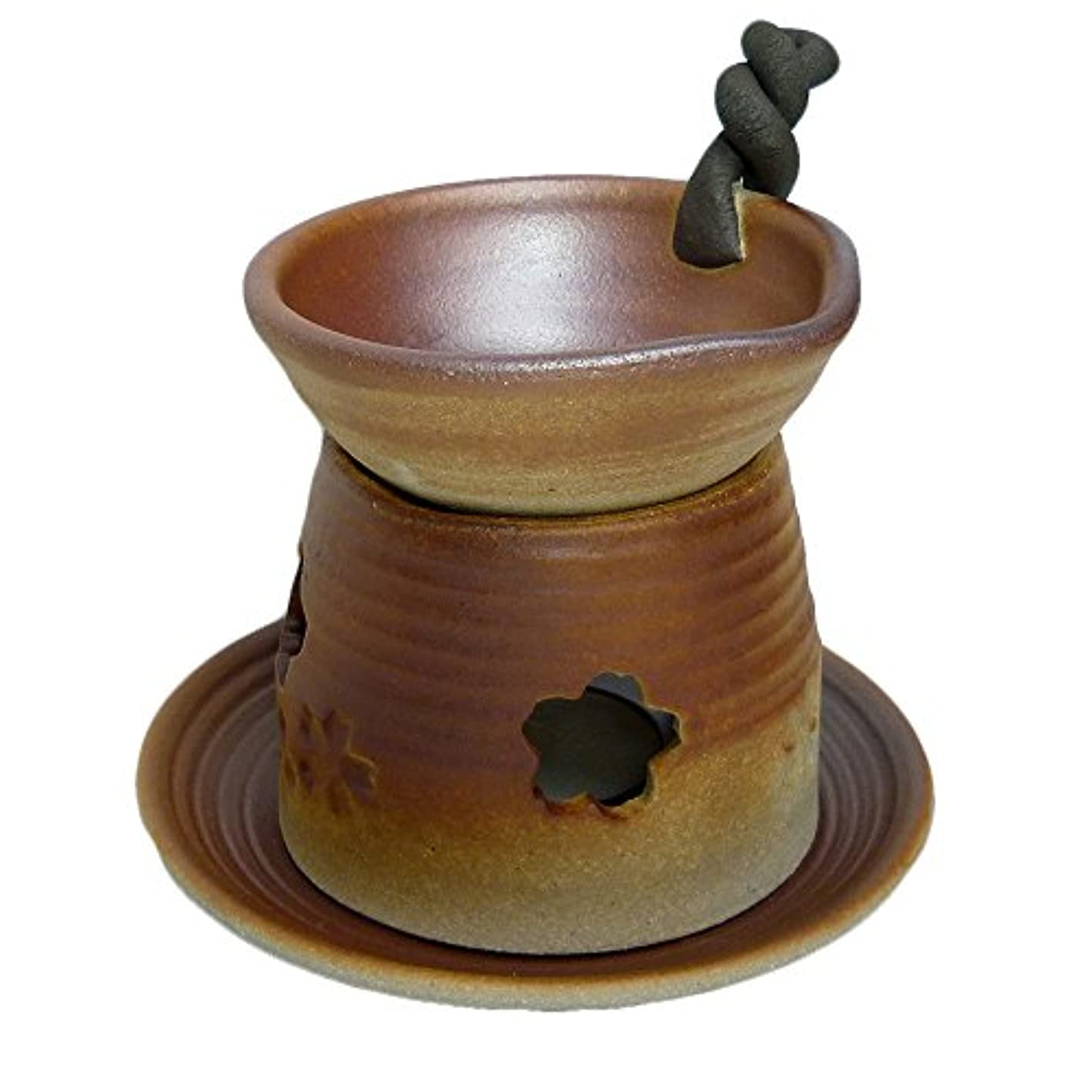 野心裁定縁香炉 錆吹き 手付茶香炉 [H13.5cm] HANDMADE プレゼント ギフト 和食器 かわいい インテリア