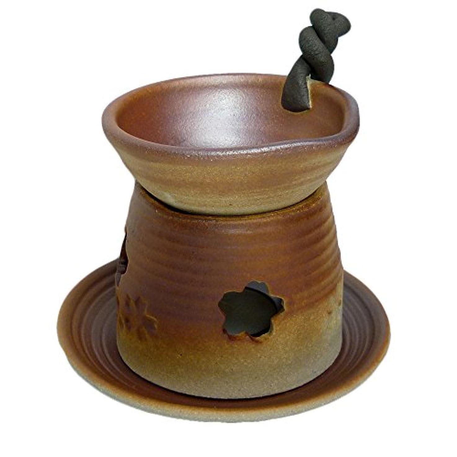 蒸留する最も遠い接ぎ木香炉 錆吹き 手付茶香炉 [H13.5cm] HANDMADE プレゼント ギフト 和食器 かわいい インテリア