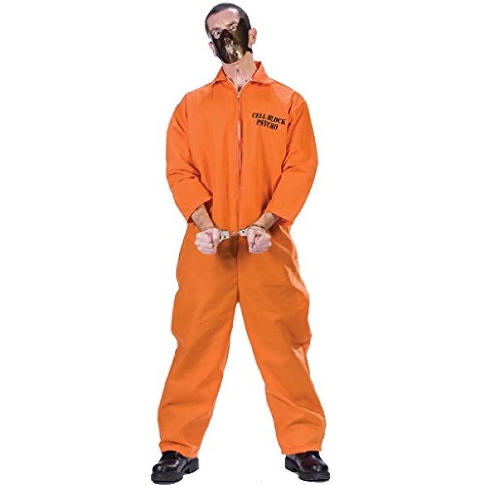 常に注意祭り囚人服 囚人 コスチューム コスプレ 大人 男性 海外 オレンジ 制服 衣装 CELL BLOCK PSYCO [並行輸入品]