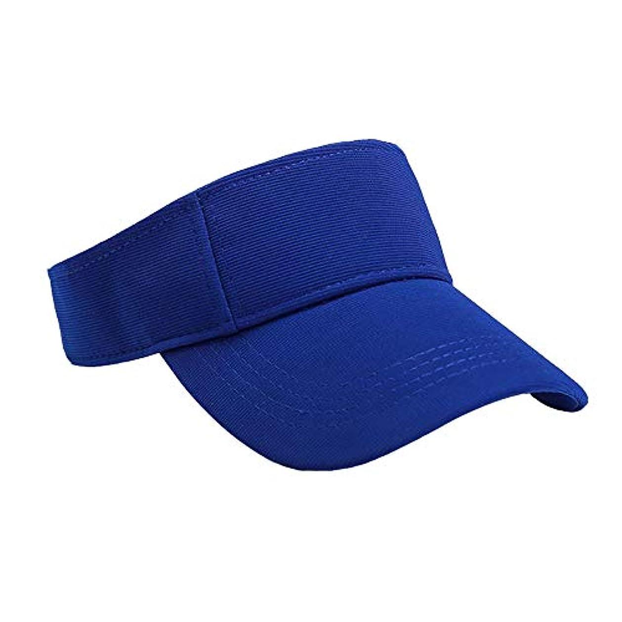 線形添加剤ボードMerssavo ユニセックスサマースポーツキャップ、サン帽子レディーステニスゴルフバイザーメッシュ野球帽、調節可能な屋外オープントップヘッドトラベルハイキング帽子、ブルー