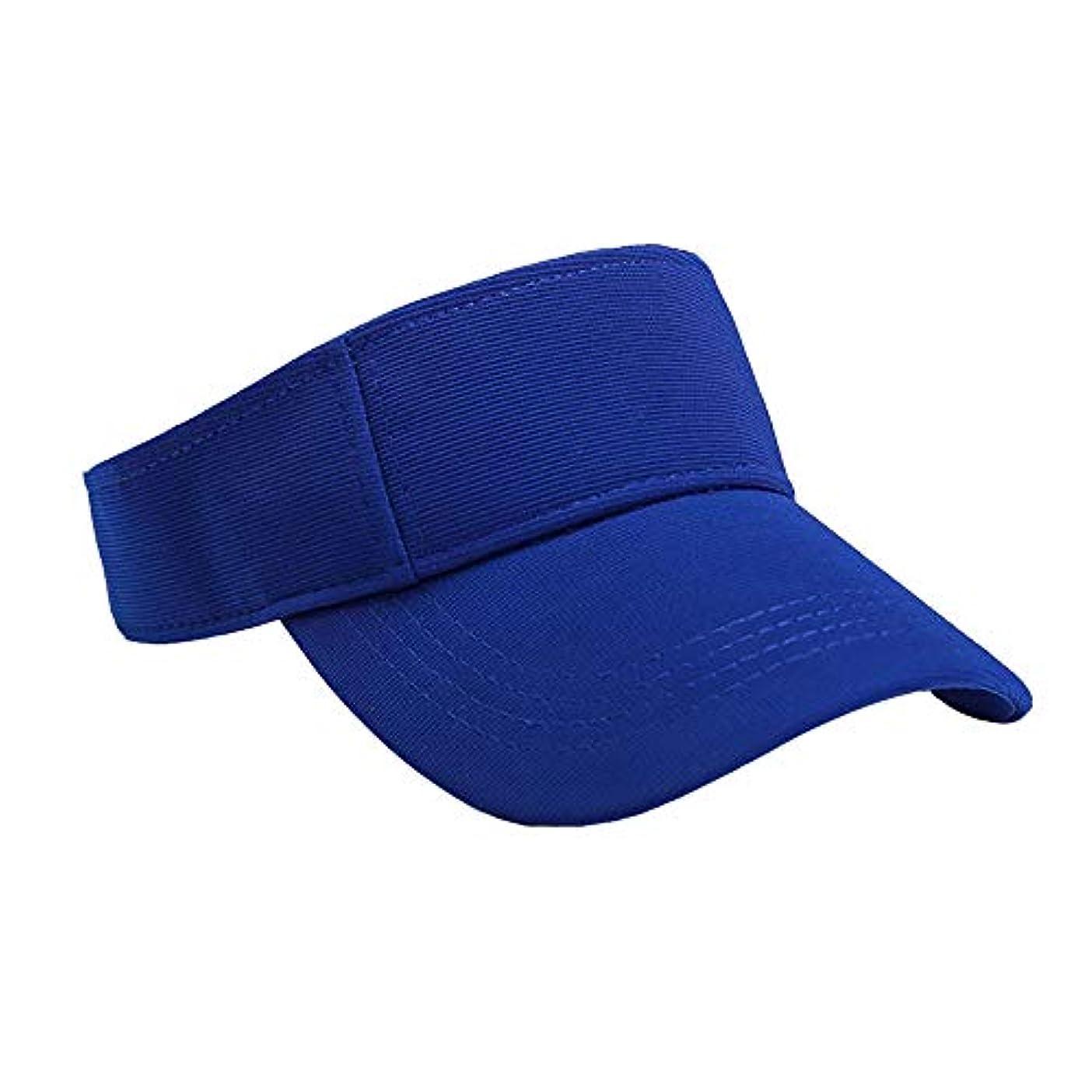 広げる偏見限りなくMerssavo ユニセックスサマースポーツキャップ、サン帽子レディーステニスゴルフバイザーメッシュ野球帽、調節可能な屋外オープントップヘッドトラベルハイキング帽子、ブルー