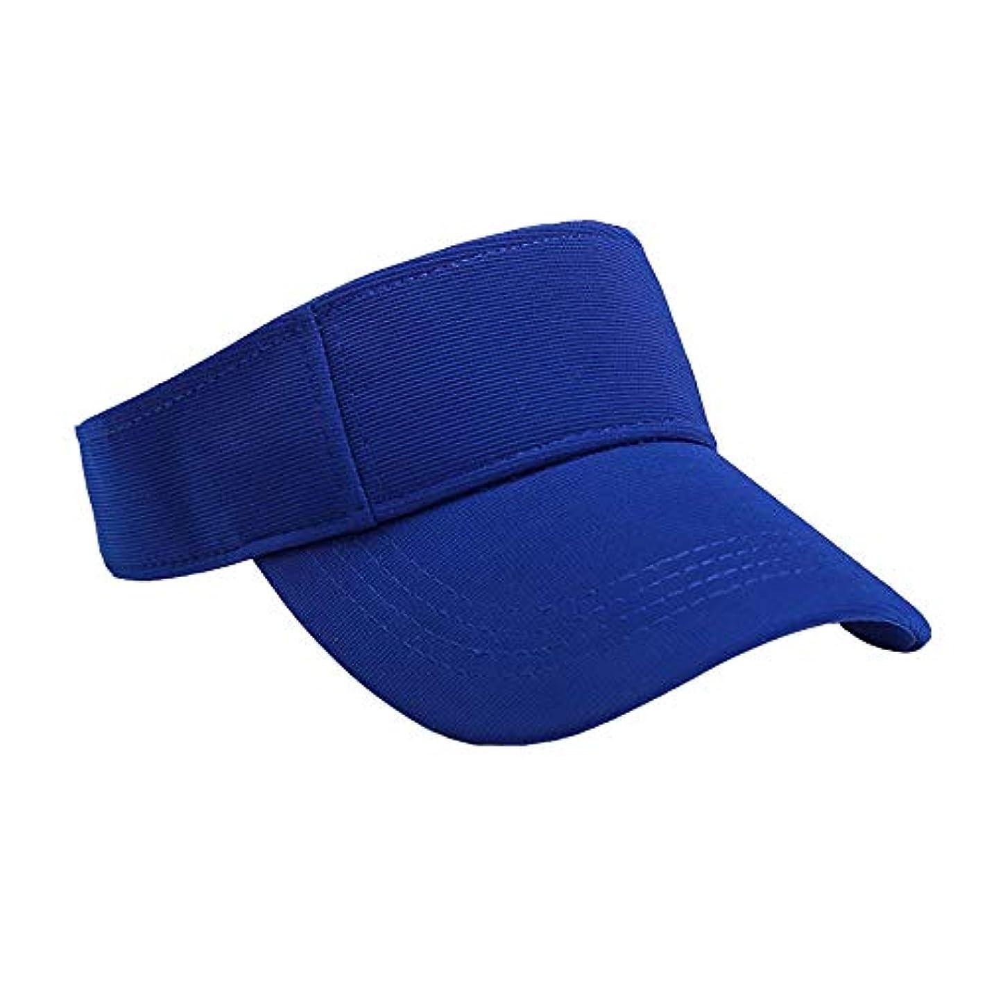台風思い出す浮くMerssavo ユニセックスサマースポーツキャップ、サン帽子レディーステニスゴルフバイザーメッシュ野球帽、調節可能な屋外オープントップヘッドトラベルハイキング帽子、ブルー
