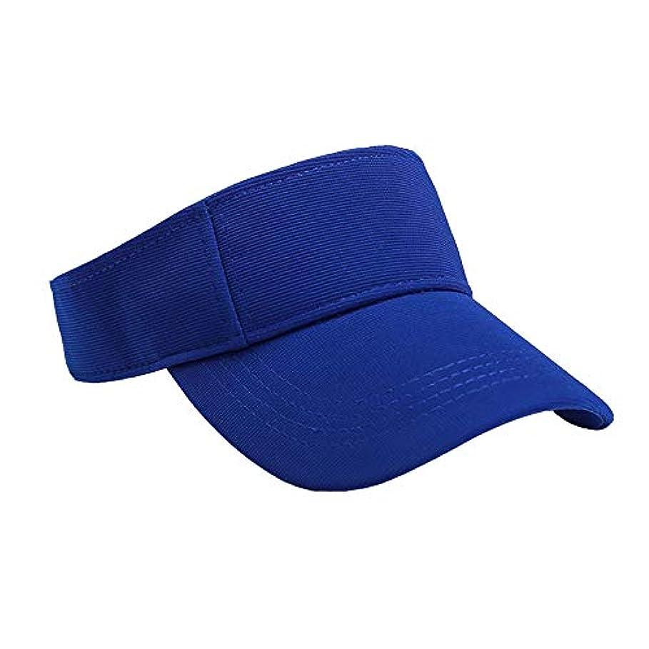 フェザークリックアーサーMerssavo ユニセックスサマースポーツキャップ、サン帽子レディーステニスゴルフバイザーメッシュ野球帽、調節可能な屋外オープントップヘッドトラベルハイキング帽子、ブルー