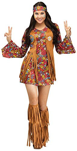 Peace and Love Hippie Adult Costume 平和と愛ヒッピー大人の衣装は