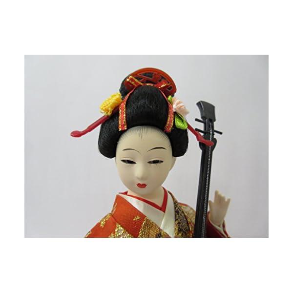 日本人形12インチ 三味線 A 303-061の紹介画像3