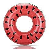 GOGOWIN浮き輪 大人用 浮具 スイカ外観 簡単デザイン 保護輪 可愛い浮輪 海水浴 プール うきわ 水遊び 海フロート 直径100cm