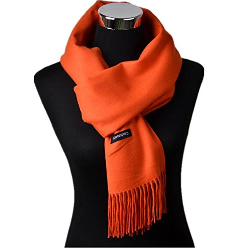 JL Women Men elegant cashmere large format stall thick solid color scarf fringe scarf shawl autumn and winter muffler gift