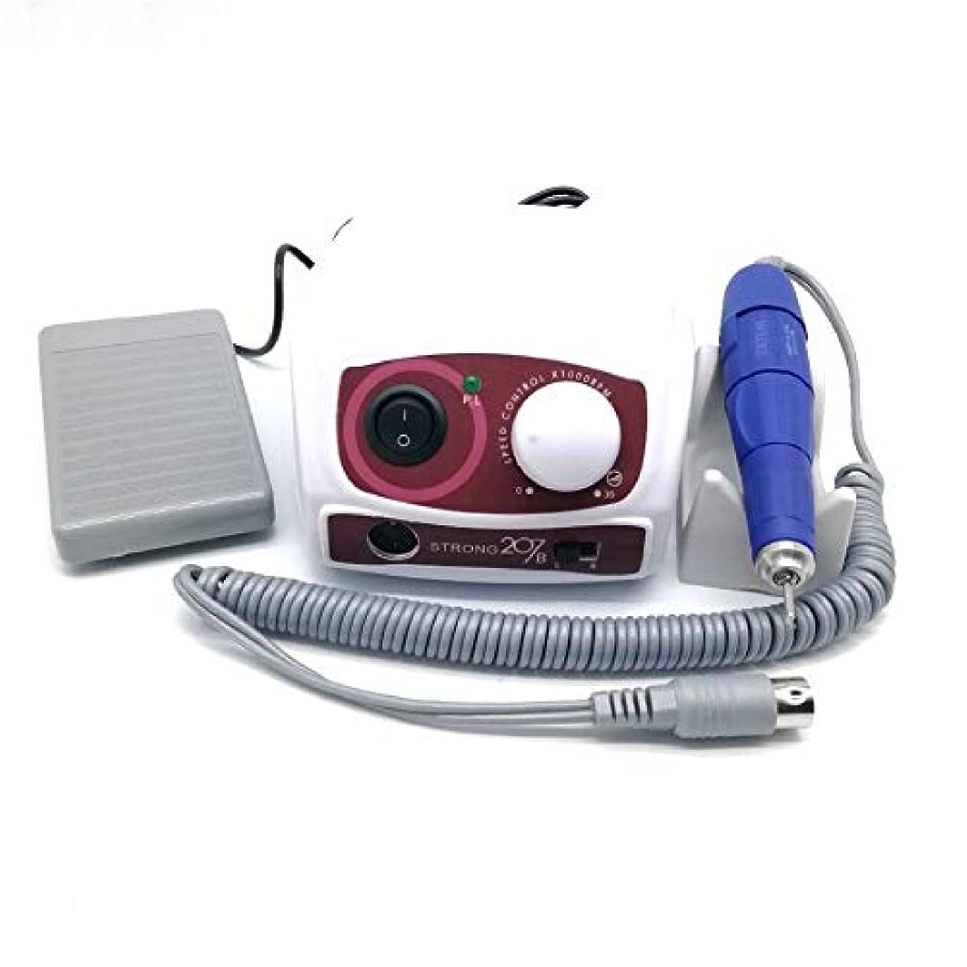 教える倉庫種類ネイルポリッシュアートマニキュアツール用電動マニキュアドリルセット35000 RPMマイクロモーター