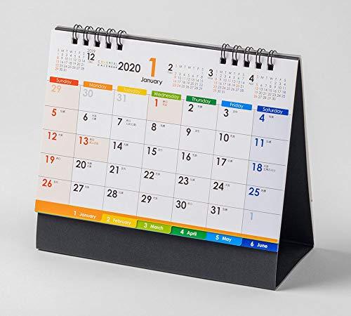 ムトウユニパック 2020年 カレンダー 卓上 実用性抜群で大人気!ベストセラー COLORFUL MU-104 B6